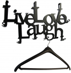 Türgarderobe Live Love Laugh schwarz